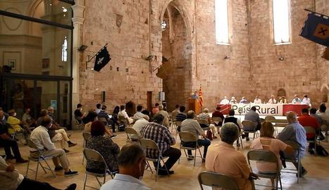 Imatge de l'acte de constitució de la plataforma País Rural, ahir a Montblanc.