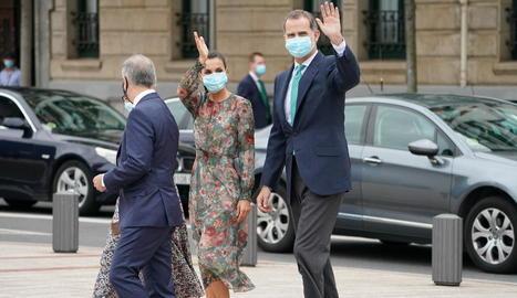 Els reis Felip i Letícia van visitar divendres el País Basc.