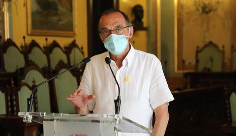 Roda de premsa de Miquel Pueyo a la Paeria
