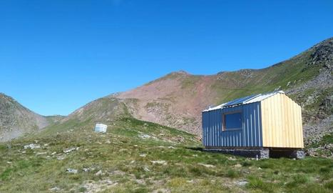La cabana instal·lada a Ventolau, a la muntanya de Tavascan.