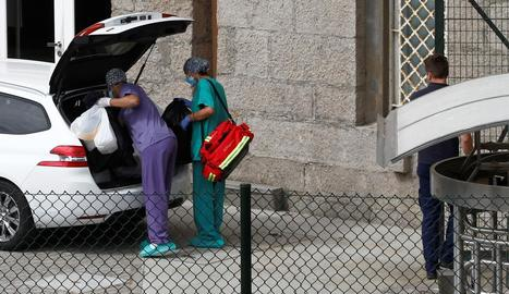 Personal sanitari, ahir a l'hotel on hi ha el Fuenlabrada.