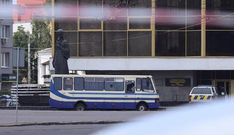 Imatge de l'autobús segrestat.