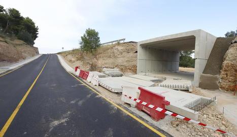 Imatge del nou pas subterrani per accedir a l'escola Alba.