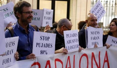 Arxiu d'una manifestació contra la pujada dels lloguers.