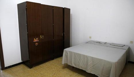Una habitació dels antics pisos dels mestres de Castellnou.