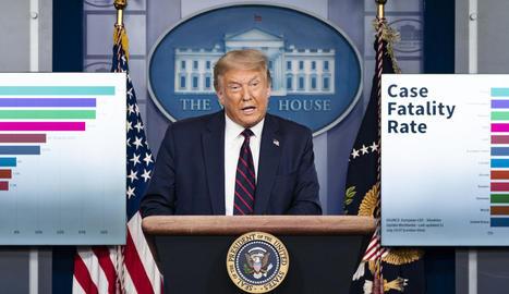 Trump va tornar a convocar rodes de premsa sobre la pandèmia.