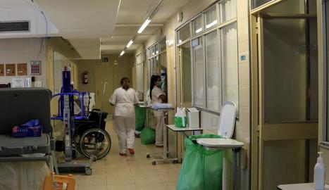 L'hospital Vall d'Hebron potencia la unitat de semicrítics per afrontar la situació actual.