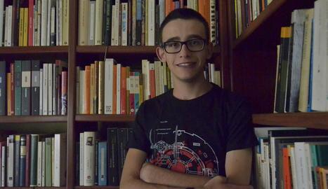 Adrià Moreno Miró, ahir el seu domicili familiar a Aitona.