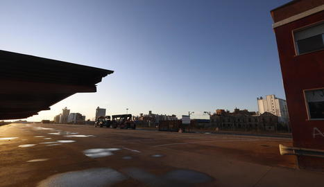 Imatge d'arxiu de l'estació de mercaderies del Pla de Vilanoveta.