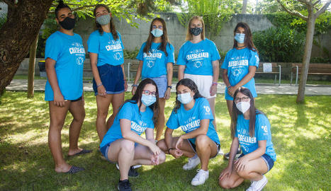 L'últim grup de voluntàries d'aquest estiu al Grup Alba.