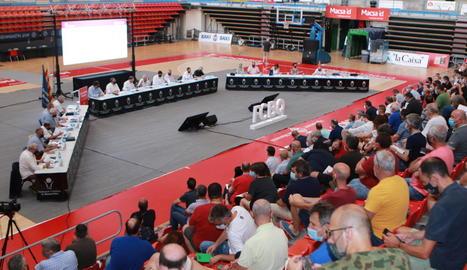 El Nou Congost de Manresa va acollir ahir l'assemblea de la Federació Catalana de Basquetbol.