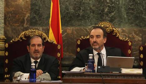 Manuel Marchena, durant el judici als líders del procés.