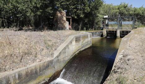 Imatge d'una de les séquies del Canal de Pinyana.