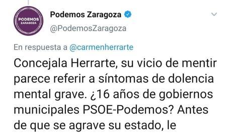 Podemos demana disculpes a Saragossa pel seu tuit