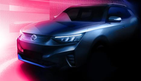 """SsangYong ha revelat les primeres imatges del que serà el seu primer vehicle elèctric, denominat internament """"projecte E100."""