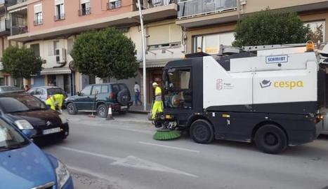 Una de les màquines que fan el servei de neteja.
