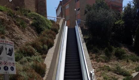 Les escales mecàniques del centre històric de Fraga.