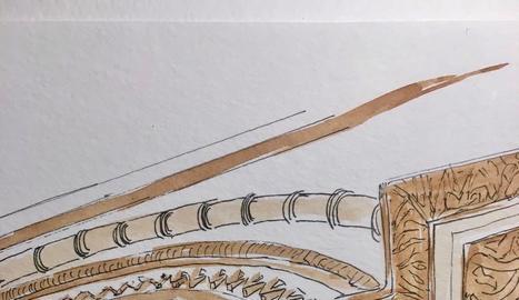 Els Urban Sketchers Lleida dibuixen el monument més emblemàtic de la capital de Ponent