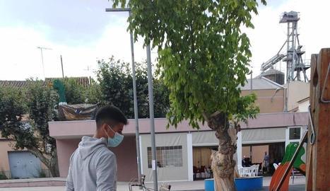 Tasques de desinfecció al municipi d'Ivars d'Urgell.