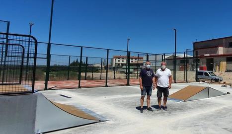 Vila-sana ja té a punt les pistes de pàdel i de skate