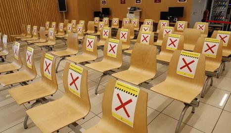 La sala d'espera de l'Oficina Municipal d'Atenció Ciutadana, que atendrà amb cita prèvia.