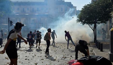 Enfrontaments entre manifestants i les forces de seguretat, aquest cap de setmana a Beirut.