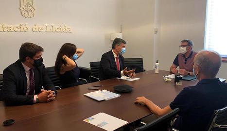 La Diputació de Lleida signa un préstec de 10 milions destinat a despesa d'inversions per als ajuntaments