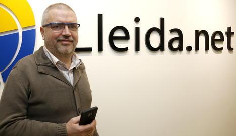 Imatge d'arxiu del conseller delegat de Lleida.net, Sisco Sapena.