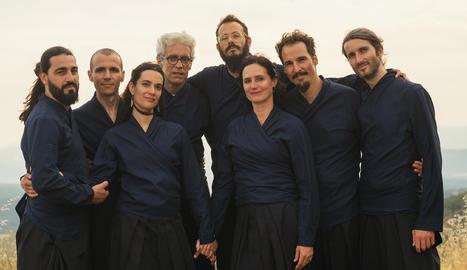 Els integrants del grup vocal MuOM, una de les formacions que actuarà al Musiquem Lleida 'Delicatessen' 2020.