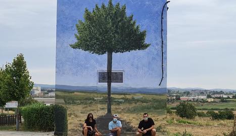 Imatge del mural que ha pintat Daniel Vera a Binèfar.