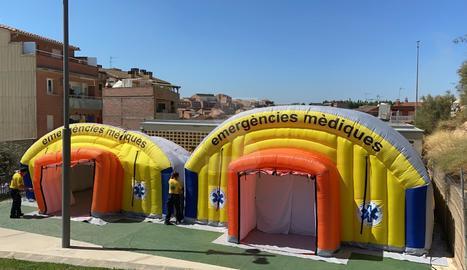 El SEM instal·la dos carpes a Alcarràs per fer tests massius