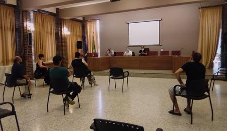 La reunió que es va fer ahir a Alfarràs