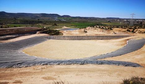 El nou abocador comarcal ubicat a les Borges Blanques.