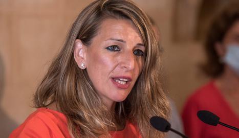 La ministra de Treball i Economia Social, Yolanda Díaz.