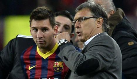 Tata Martino, amb Messi.