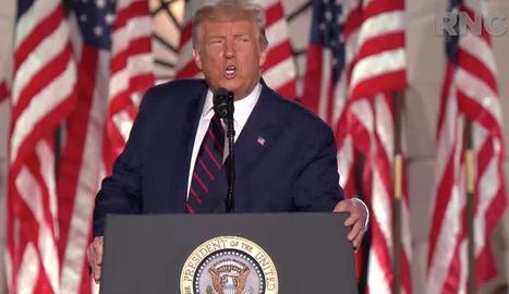 El president dels EUA, Donald Trump, ahir, a Washington.