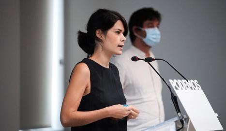 La coportaveu de Podem, Isa Serra, ahir, a Madrid.