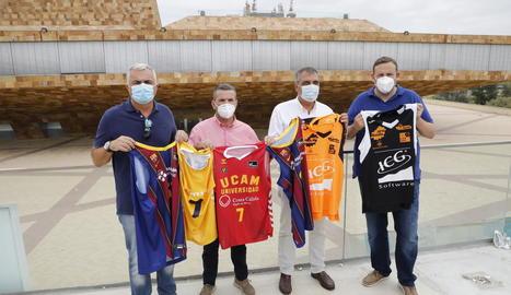 L'organització va elegir la Llotja per presentar el partit entre Barça i UCAM Múrcia.