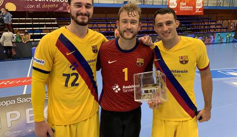 Els jugadors del Barça van aconseguir una nova Supercopa Asobal.