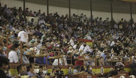 Imatge de la corrida de toros que es va celebrar divendres a Mèrida.