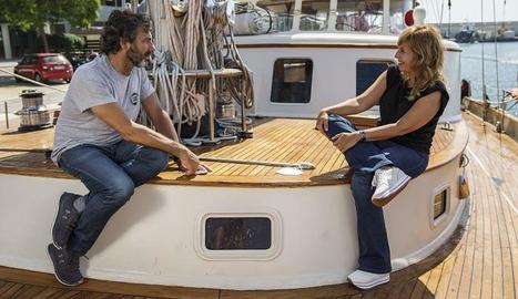 Òscar Camps entrevistat al vaixell 'Proactiva Open Arms'.