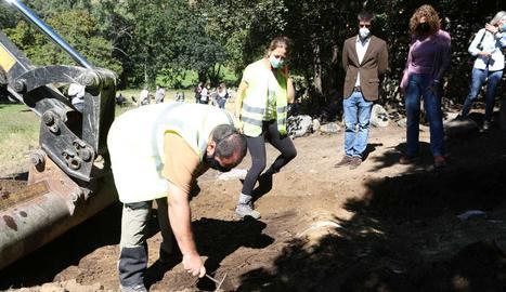 Els arqueòlegs han iniciat les excavacions