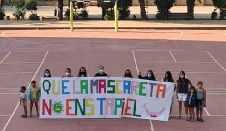 Alguns dels joves participants al casal d'estiu municipal de la Seu d'Urgell.
