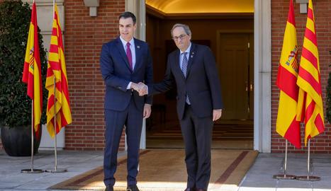 La primera i única reunió de la taula de diàleg, liderada per Sánchez i Torra, va ser a finals de febrer.