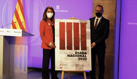 Budó i Costa, ahir, en la presentació dels actes de la Diada.