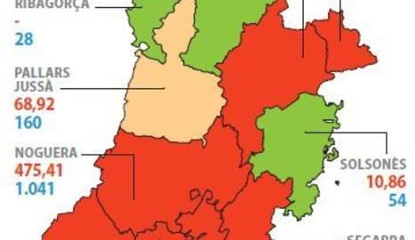Garrigues i Noguera tenen el risc de rebrot més alt del pla de Lleida