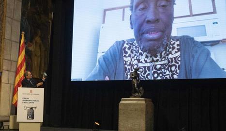 El premiat va intervenir a través de videoconferència.