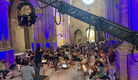 La Seu Vella es prepara per acollir el concert 'Essencial'