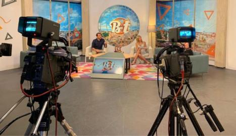 Plató del programa matinal diari 'Ben Trobats', que emet Lleida TV.