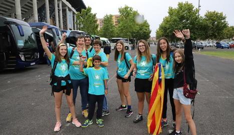 Lleidatans que el 2019 van anar a la manifestació de Barcelona.